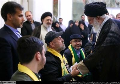 حزب اللہ لبنان کے جانبازوں کی امام خامنہ ای سے ملاقات