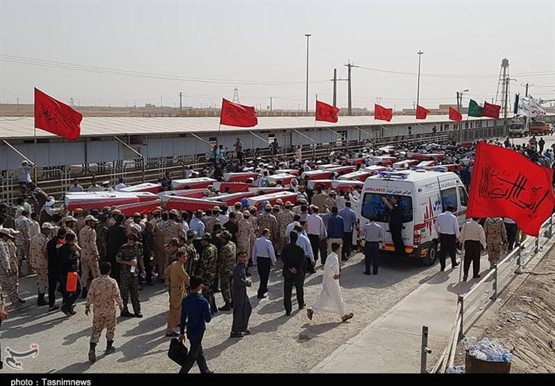 خوزستان| ورود پیکر مطهر 75 شهید تازه تفحص شده از مرز شلمچه