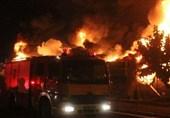 آتشسوزی گسترده در بازار گل و گیاه ستاری/ ارتفاع شعلهها به 10 متر رسید + تصاویر