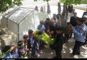 حضور خدام حرم رضوی در روستای گنجگان بویراحمد به روایت تصویر