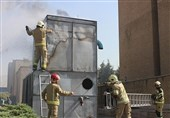 آتشسوزی در سازمان میراث فرهنگی + تصاویر