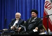 تجدید میثاق ظریف و سفرا روسای نمایندگی های ایران در جهان با آرمان های امام خمینی (ره)