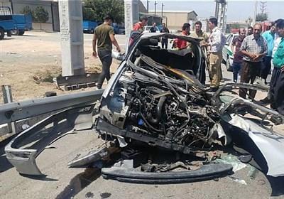 پرت شدن 4 سرنشین پژو پارس پس از متلاشی شدن خودرو + تصاویر