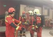 نجات 40 نفر به دنبال آتشسوزی در تالار پذیرایی + تصاویر