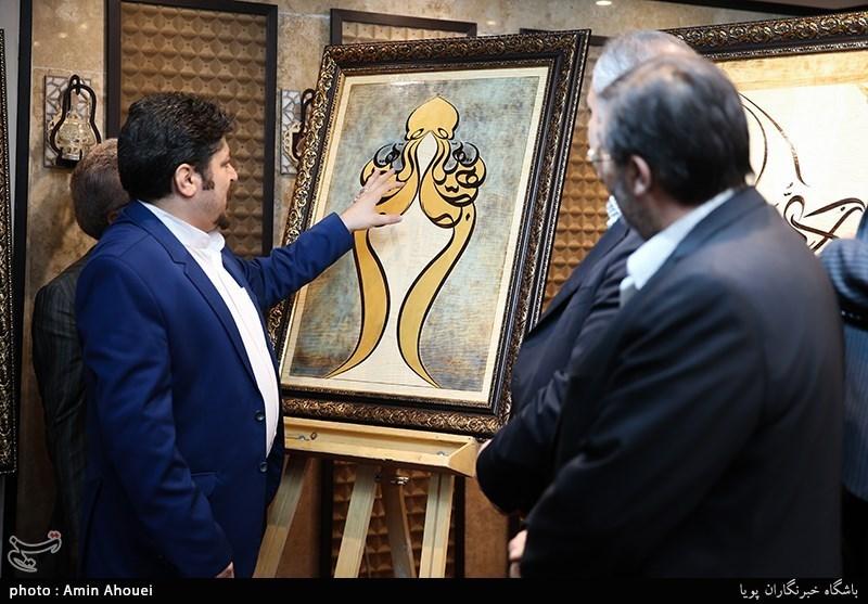 رونمایی از تابلوهایی که با عشق به امام رضا(ع) آمیخته شده است/ نداف: هرچه عاری از اهل بیت(ع) باشد در ظلمات است +عکس