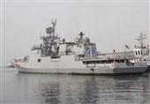 """پهلوگیری ناو هندی """"تارکاش"""" در منطقه یکم نیروی دریایی ارتش"""