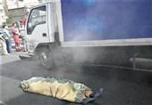 مرگ فجیع راننده کامیونت زیر قطعات خودرو + تصاویر
