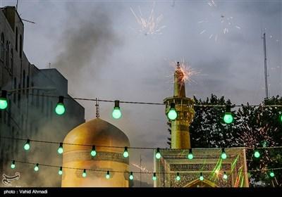 جشن مردمی میلاد امام رضا(ع) در محله صادقیه