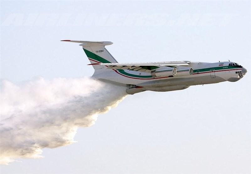اطفا حریق هورالعظیم توسط هواپیما و بالگردهای سپاه + فیلم