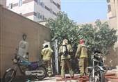 نجات 15 نفر از ساکنان ساختمان مسکونی توسط آتشنشانان + تصاویر