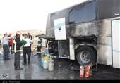 زنجان  برخورد اتوبوس با کامیون 14 کشته و زخمی برجای گذاشت
