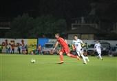 لیگ برتر فوتبال|تساوی نساجی و نفت مسجدسلیمان در نیمه نخست