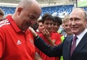 تجلیل پوتین از اعضای تیم ملی روسیه و توضیح چرچسوف درباره علت تماشای فینال جام جهانی 2018