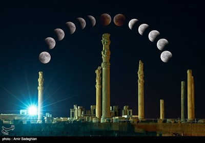 صدی کا طویل ترین چاند گرہن دیکھئے تخت جمشید کے آسمان پر