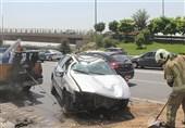 واژگونی خونین سمند در بزرگراه شیخ فضلالله + تصاویر