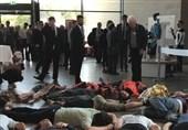 اعتراض نمادین علیه اخراجهای پناهندگان از اروپا در آلمان +عکس