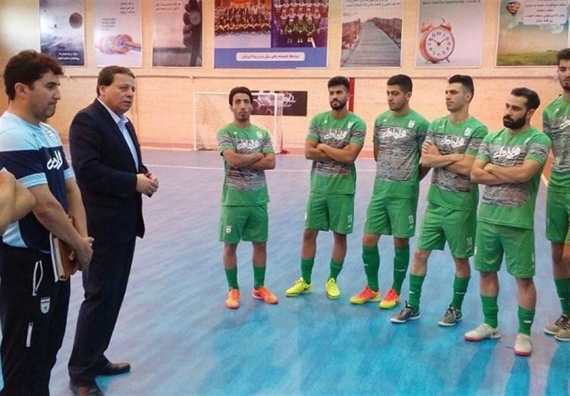 بازدید ساکت از تمرین تیم ملی فوتسال