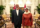 ظریف با رئیس جمهور و وزیر خارجه سنگاپور دیدار کرد