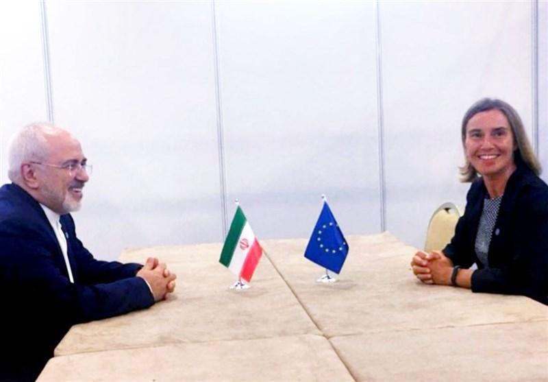موگرینی کی محمد جواد ظریف سے ملاقات، جوہری امورپر تبادلہ خیال