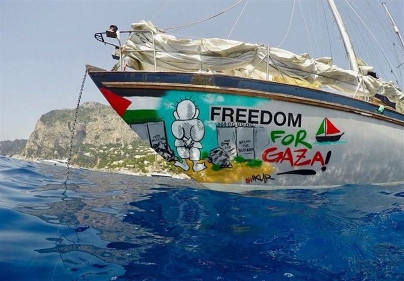 """غزہ کا محاصرہ توڑنے دوسرا """"سفینہ آزادی"""" ساحل غزہ کے نزدیک"""