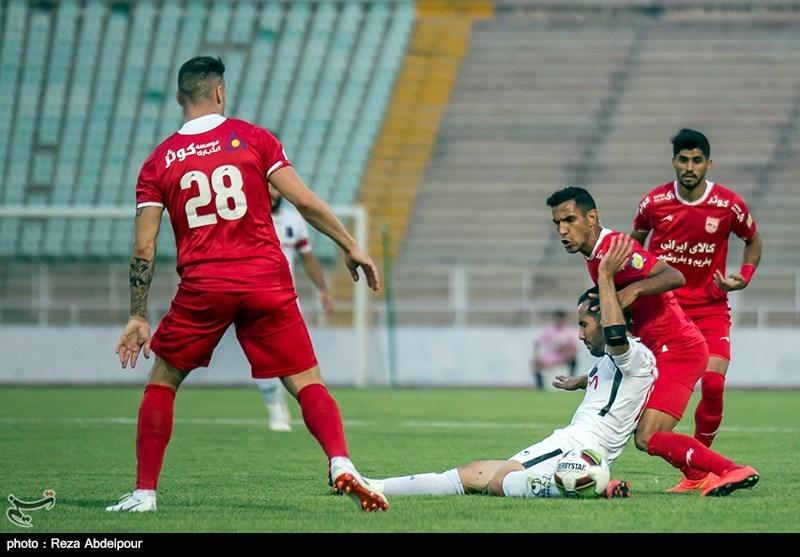لیگ برتر فوتبال|تساوی یک نیمهای تراکتورسازی و سایپا
