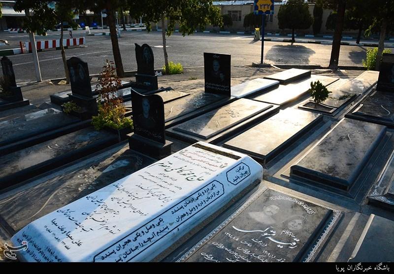 ماجرای سرقت سنگ مزار پدر شهید در بهشت زهرا(س)+عکس