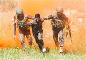 رقابت تیمهای ارتش و ناجا در مسابقات نظامی 2018 روسیه + عکس