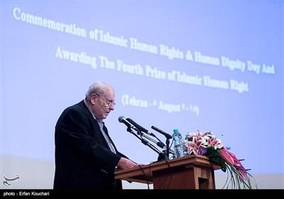 سخنرانی صلاح زواوی سفیر فلسطین در ایران در مراسم بزرگداشت روز حقوق بشر اسلامی و کرامت انسانی