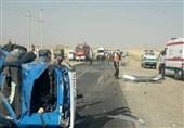 تصادف محور فیروزآباد- شیراز 5 فوتی و 4 مجروح برجای گذاشت