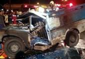 زنده سوختن راننده نیسان میان شعلههای آتش