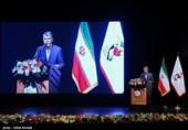 سیدعباس صالحی وزیر فرهنگ و ارشاد اسلامی در مراسم چهارمین جشنواره تجلیل از خبرنگاران برتر رسانهها