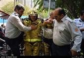 آتشسوزی ساختمان 10 طبقه اداری در جردن