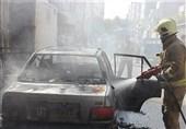 آتش گرفتن همزمان 3 خودرو در شهرری + تصاویر