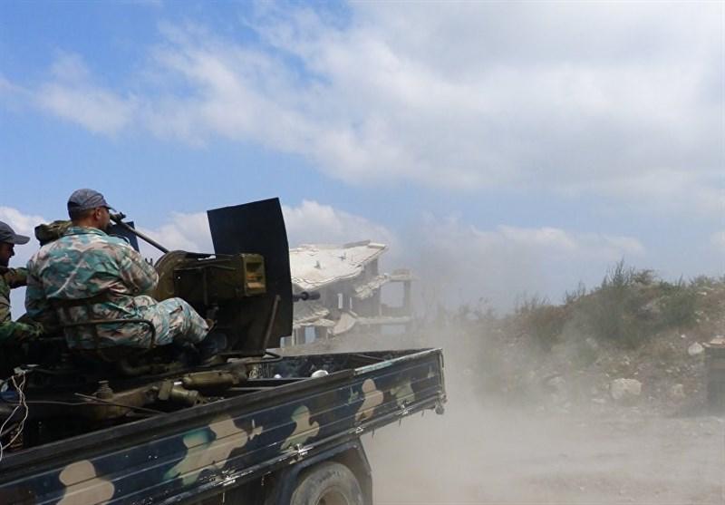 الجیش السوری یدمر منصات إطلاق صواریخ للإرهابیین بریف حماة