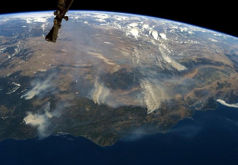 صور من الفضاء لحرائق کالیفورنیا