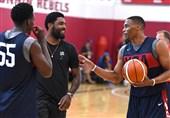 جمع ستارهها در اردوی تیم ملی بسکتبال آمریکا