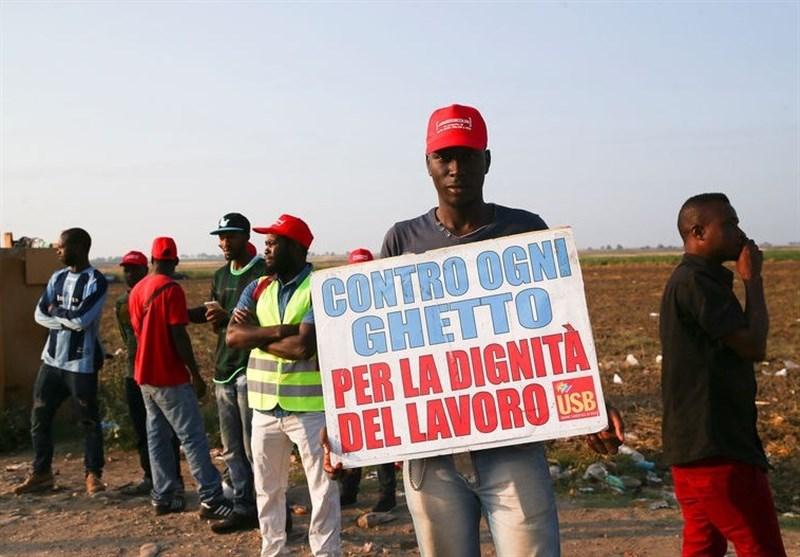 اعتصاب مهاجران آفریقایی در ایتالیا