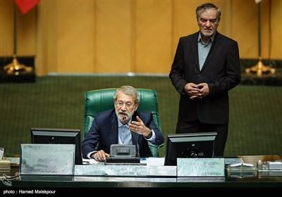 علی لاریجانی رئیس مجلس شورای اسلامی در جلسه استیضاح وزیر تعاون ، کار و رفاه اجتماعی