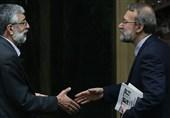 رئیس مجلس از حدادعادل عیادت کرد