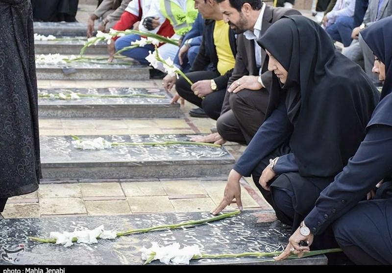 آئین غبارروبی گلزار شهدای کرمان به روایت تصویر