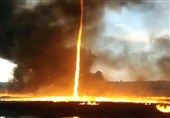 "Amassing Video of ""Firenado"" Captured by UK Firefighters in Derbyshire (+Video)"