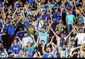 حاشیه دیدار استقلال - فولاد| اهتراز پرچم بزرگ هواداران، تقدیر از پزشکان و تشویق شفر به سبک جدید + عکس
