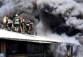 تهران| آتشسوزی گسترده انبار لوازم خانگی در خیابان خیام