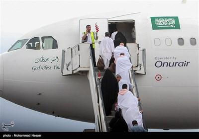 اعزام اولین کاروان حجاج بیت الله الحرام از فرودگاه گرگان