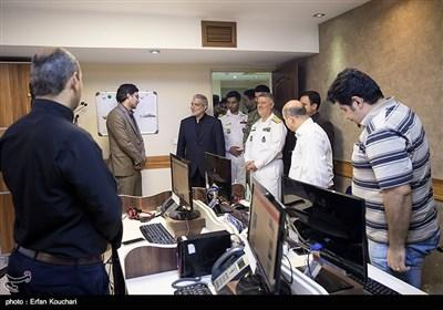 بازدید دریادار حسین خانزادی فرمانده نیروی دریایی راهبردی ارتش از تحریریه خبرگزاری تسنیم
