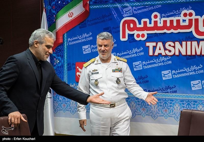 کنفرانس خبری دریادار حسین خانزادی فرمانده نیروی دریایی راهبردی ارتش در خبرگزاری تسنیم