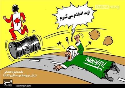 کاریکاتور/ ریاکاریکانادایی در مقابلفرصتطلبیسعودی