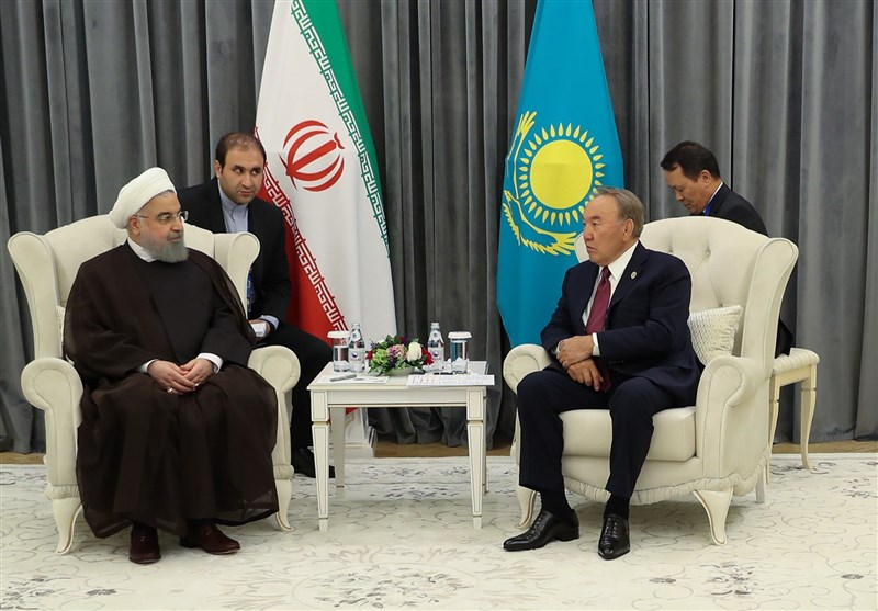 İran Cumhurbaşkanı Kazakistan Devlet Başkanı İle Görüştü