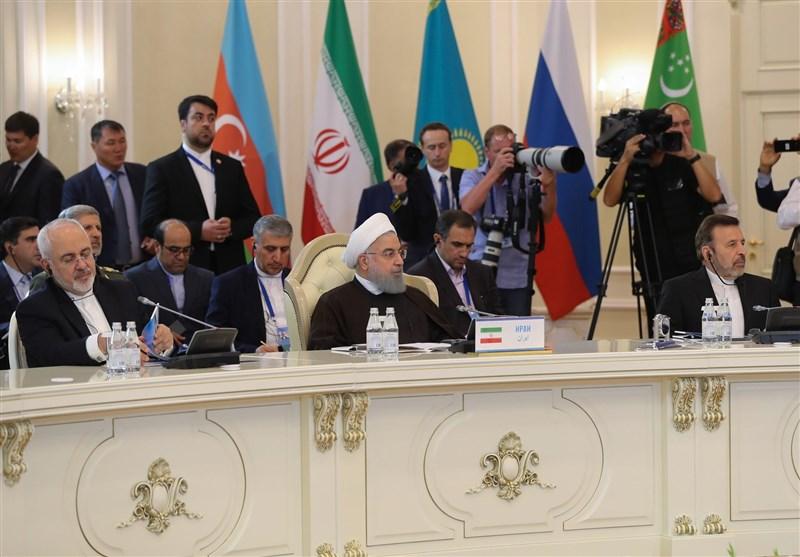 روحانی: امنیت و ثبات از دستاوردهای کنوانسیون رژیم حقوقی دریای خزر است