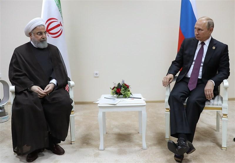 رایزنی روحانی و پوتین درباره مسائل منطقهای و بینالمللی در قزاقستان